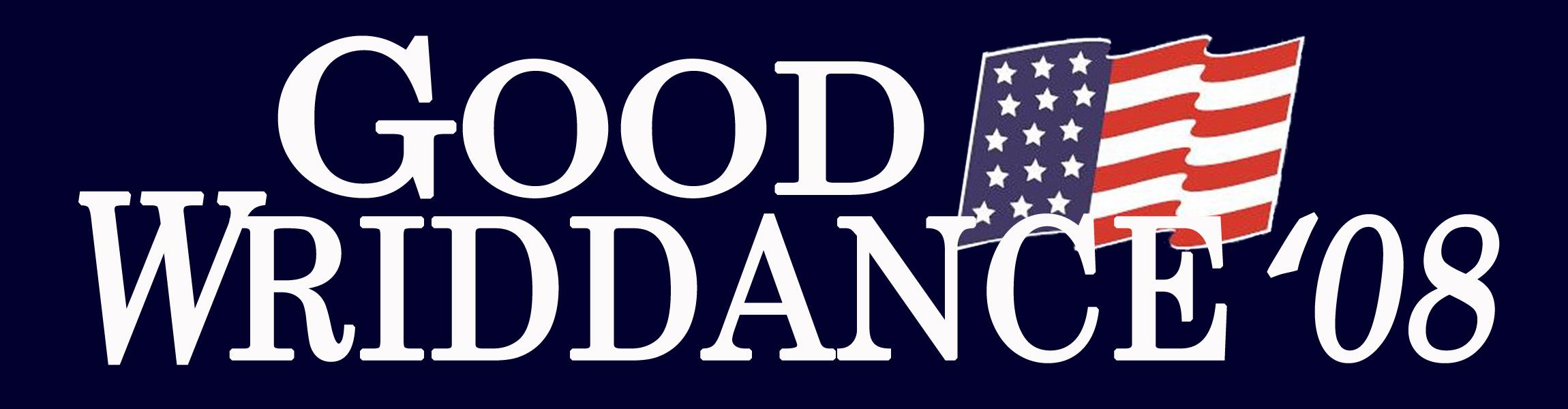 Good Wriddance!