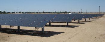 Brightfield solar park at Kern River