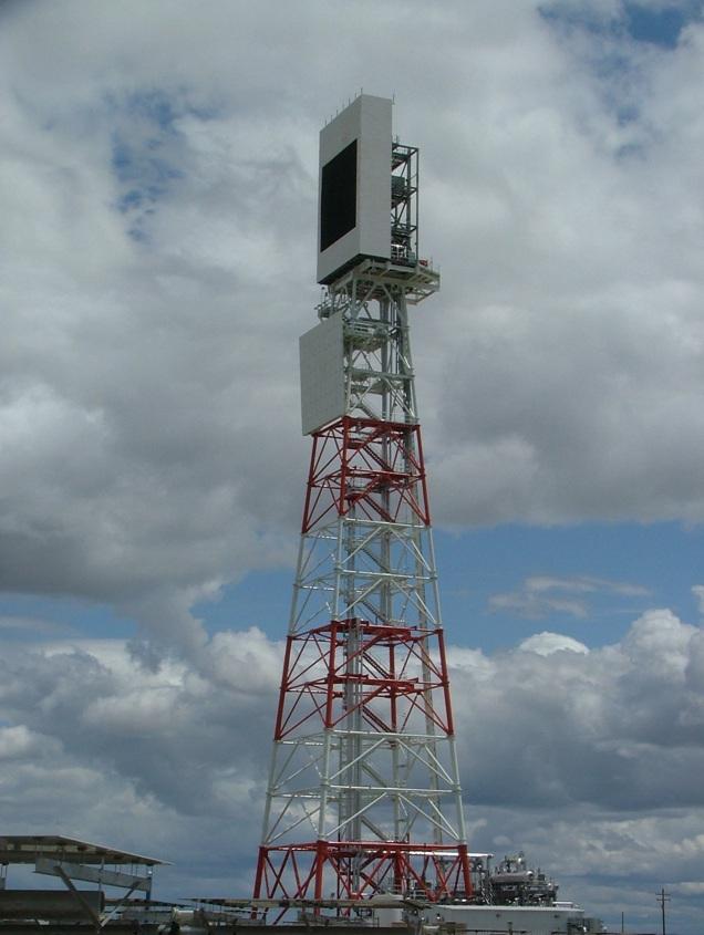 Solar collector tower in Chevron Coalinga field